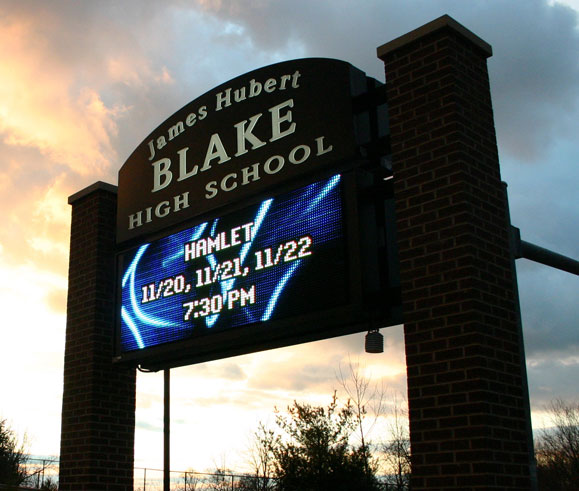 James Hubert Blake High School Sign