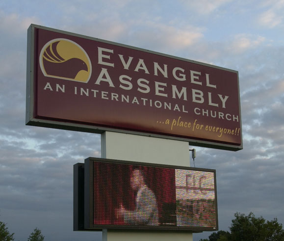 Evangelical Assembly Digital School Sign