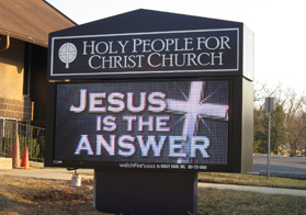 Holy People for Christ Church EMC Sign