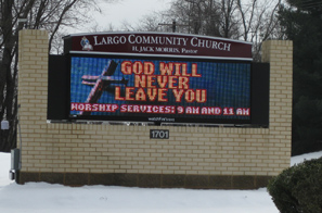 Largo Church Electronic Sign