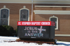 St. Stephen Baptist Church EMC Sign
