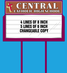 Standard style school sign